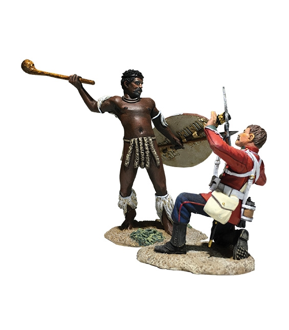 WBritain 20182 Closing In British 24th Foot and Zulu Hand to Hand 2 Piece Figure Set