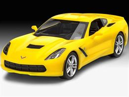 Revell 07449 1/25 2014 Corvette Stingray Easy Click Model Car Kit