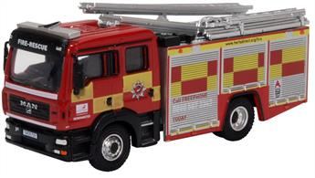 MAN Pump Ladder Fire Engine Hertfordshire Fire & Rescue