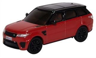 Oxford Diecast 1/76th 76RRS003 Range Rover Sport SVR Firenze Red