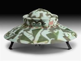 German Haunebu II WW2 era flying saucer project.Length 200mm Number of Parts 69 Wingspan 200mmGlue and paints are required