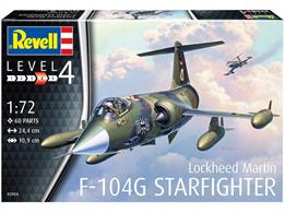 Revell 03904 1/72 Scale F-104G StarfighterNumber of Parts 60Glue and paints are required