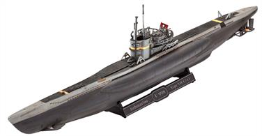 Revell 05154 1/350 Scale German Submarine Type VII C/41 Glue and paints are required