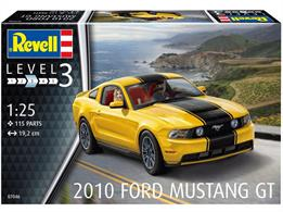 Revell 07046 1/25 Scale 2010 Ford Mustang GTLength 190mm Number of Parts 115Glue and paints are required to assemble and complete the model (not included)