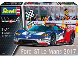 Revell 07041 1/24 Scale 2017 Ford GT Le Mans Race CarNumber of Parts 88   Length 204mm   Width 94mm   Height 47mm