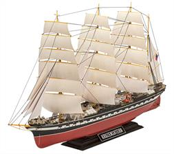 Revell 05159 1/200 Scale  Russian Barque Kruzenshtern Number of parts:474 Length:575 mm Width:150 mm Height:256 mm