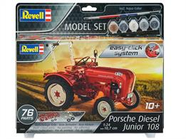 Revell 67820 1/24 Scale Porsche Junior 108 Model SetLength 107mm Number of Parts 76Comes with Glue and Paints.