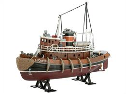 Revell 65207 1/108 Scale Harbour Tug Boat Model SetLength 231mm	Number of Parts 89Comes with glue and paints.