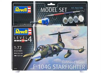 Revell 63904 1/72 Scale F-104G Starfighter Model SetNumber of Parts 60  Length 244mm  Wingspan 109mm