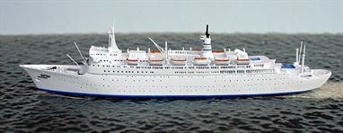 Shalom was a new build venture for Israeli Zim Lines but it was not entirely successful as so many famous passenger liners were being transferred to cruising duties and these were better known and more accessible to many passengers.