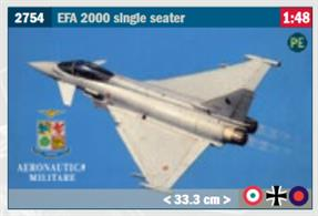 EFA 2000 Single Seater Fighter Aircraft KitGlue and paints are required to assemble and complete the model (not included)Price to be Advised