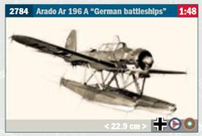 Arado Ar 196 A German Battleship Seaplane KitGlue and paints are required to assemble and complete the model (not included)