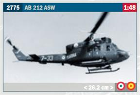 AB-212 ASW Helicopter KitGlue and paints are required to assemble and complete the model (not included)Price to be Advised