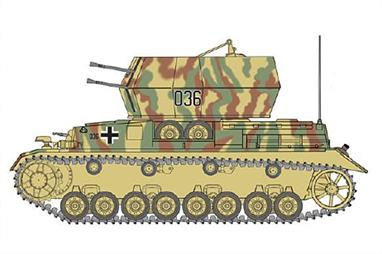 Italeri 7074 1/72 Scale Flakpanzer IV Wirbelwind Sd.Kfz. 161/4Glue and paints are required