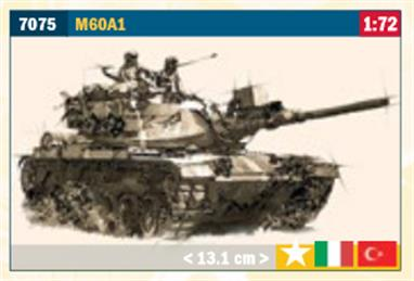 Italeri 7075 1/72 Scale M60A1 Tank KitGlue and paints are required to assemble and complete the model (not included)