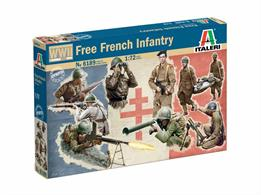 French Infantry WWII Figure Set49 Unpainted Figures