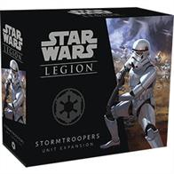 In the Stormtroopers Unit Expansion, you'll find seven Stormtrooper miniatures, identical to the ones included in the Star Wars: Legion Core Set, along with the unit card and upgrade cards that you need to add another unit of Stormtroopers to your army.