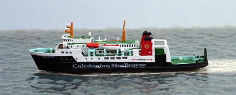 A 1/1250 scale metal waterline model of Hebrdean Isles a modern Calmac ferry from the current fleet by Rhenania Junior RJ196