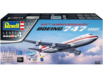 Revell 05686 1/144th scale Boeing 747-100 Jet Liner 50th Anniversary Gift Set