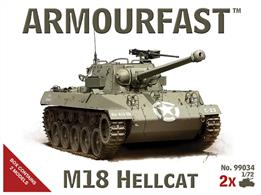 Armourfast 99034 1/72 Scale M18 Hellcat US Tank Destroyer Kit