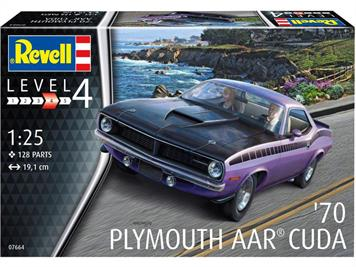 Revell 07664 1/25th 1970 AAR Cuda Muscle Car Kit