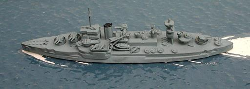 Secondhand Mini-ships KB4 USS Wyoming gunnery training ship 1940s 1/1200