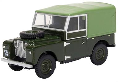 Land Rover Series I 88 Canvas Bronze Green Plimsoll