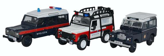 Oxford Diecast 76SET63 3 Piece Hong Kong Police Set