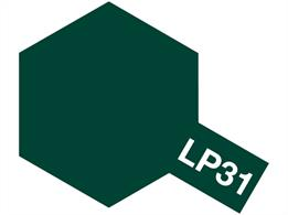Tamiya LP-31 Dark Green 2 (IJN) Lacquer Paint 10mlFor use on IJN subjects such as the Mitsubishi A6M5 Zero fighter.