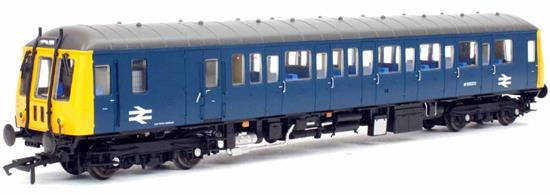 A detailed model of Gloucester built BR c lass 122 single car DMU car W55003 finished in BR blue livery with full yellow ends. This is an early version of the BR blue period with the car retaining the two-character route indicator blind in the cab ends.Expected quarter 4 2018