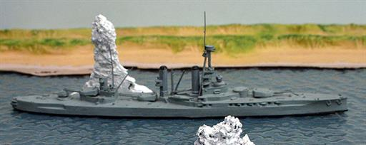 Secondhand Mini-ships KB14 HMS Iron Duke gunnery training and headquarters ship 1939-45 1/1250