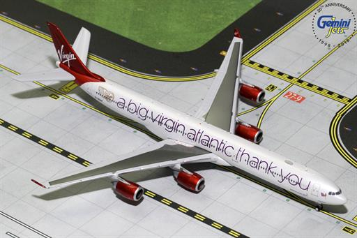 Gemini Jets GJVIR1766 Virgin Atlantic A340-600 A Big Thank You G-VNAP Airliner Model 1/400