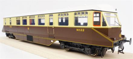 GWR AEC Railcar GWR Chocolate & Cream with white roof and Monogram