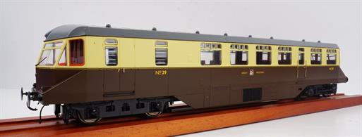 GWR AEC Railcar GWR Chocolate & Cream with dark grey roof and GWR Coat of Arms