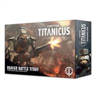 This multi-part plastic kit contains the components necessary to assemble a Reaver Battle Titan for use in games of Adeptus Titanicus.This kit comes as 122 components, and is supplied with a Citadel 105mm Oval base along with a decal sheet – this features heraldry for the following Legios: Gryphonicus, Fureans, Astorium, Atarus, and Mortis.