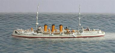 A 1/1250 scale secondhand model of Boyarin in 1902 by Hai 379. This model is in excellent condition and is in tropical livery with painted decks, see photograph.