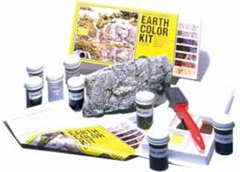 This is an amazingly simple system for coloring terrain and plaster castings such as rocks, retaining walls, culverts and tunnel portals. Specifically formulated for coloring Flex Paste™, Plaster Cloth, Lightweight Hydrocal®*, plaster, foam, wood and papier mache terrain models. Water-soluable. Eight individual bottles in kit.1 oz. (29.5 mL) ea