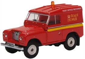 Oxford Diecast 76LR2AS002 1/76 Land Rover Series IIA SWB Hard Top Royal Mail (PO Recovery)