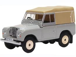 Oxford Diecast 76LR3S003 1/76th Land Rover Series III Canvas Mid Grey