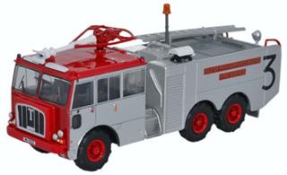 Oxford Diecast 1/76 Thornycroft Nubian Isle of Man Airports Board Fire Service 76TN004