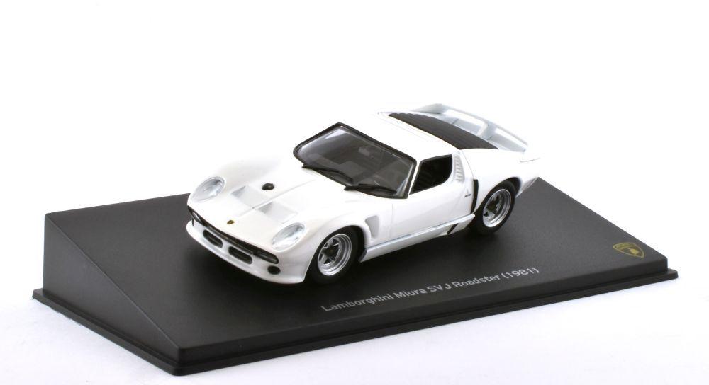 Mag Lamborghini Miura Sv J Roadtser 1981 White 1 43 Mag Jt61