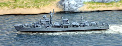 A 1/1250 scale secondhand model of Jiaghu V-class frigate in about 1991 by Hai 538. This model is in very good condition, see photograph.