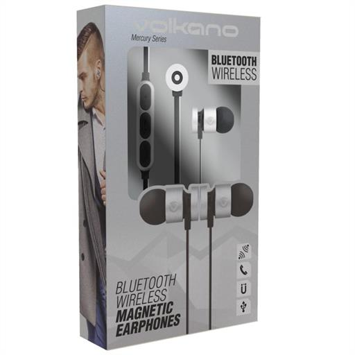 Volkano VK1006SLBK Mercury Series Magnetic Headphones