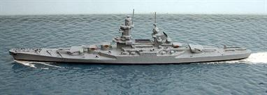 A 1/1200 scale secondhand model of Gascogne a French battleship proposal of 1939 by Superior Models Inc. 105F.