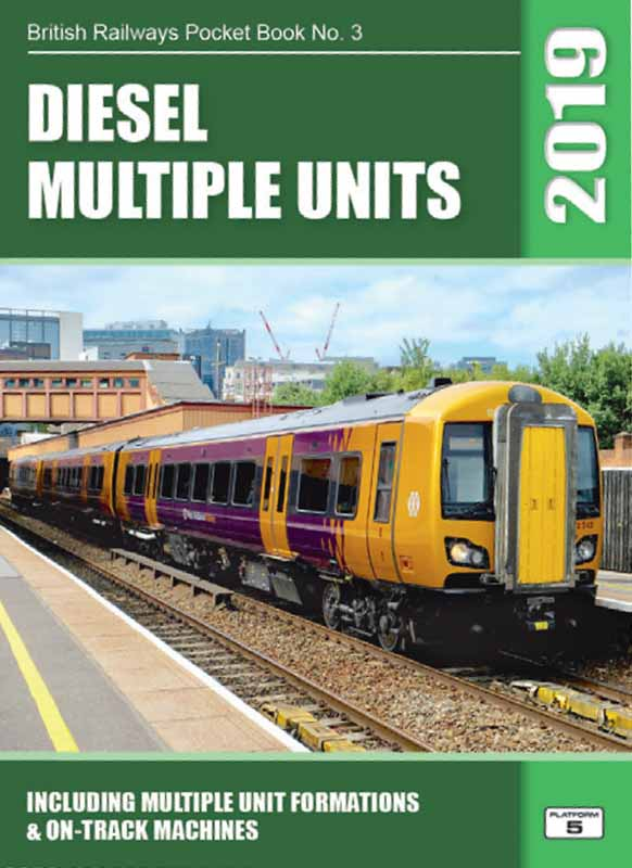 Due for publication November 2018<br /><br />A complete listing of Diesel (only) powered multiple unit trains registered with Network Rail in autumn 2018.<br />Unit trains provide the majority of the passenger train stock operating in Britain today. This book covers all diesel powered unit trains from the 4-wheel railbus types, through the Sprinter, Turbostar and Voyager generations to the newest units entering service. On-track machines and MPV maintenance vehicles are included with this book. Multi-power (diesel or electric) units are listed in the EMUs book.