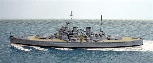 Secondhand Mini-ships Revell SH11 HMS King George V British battleship in WW2 1/1200