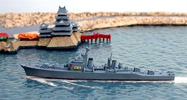 A 1/1250 scale second-hand model of Akizuki 1959 a Japanese destroyer in 1959 by Hansa S67. The model is in good condition, see photograph.