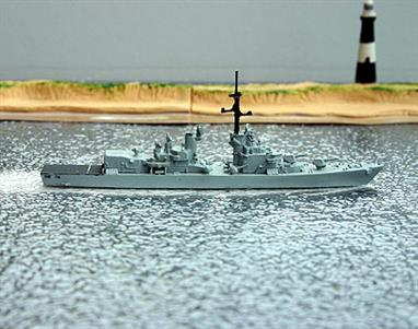 A 1/1250 scale model of Italian destroyer Ardito in 1971 by Hai 141. The model is in good condition, see photograph