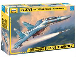 Zvezda 7294 1/72nd Soviet Su-27UB Flanker Plastic KitNumber of Parts 178  Length 314mm