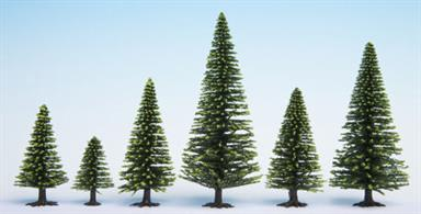 Pack of 25 spruce trees between 5 and 14cm height.